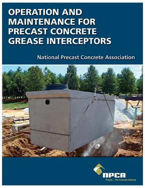 Operation and Maintenance for precast concrete grease interceptors document cover