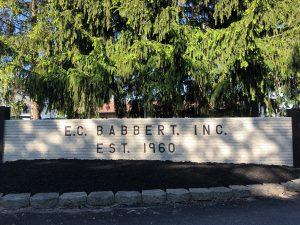 EC Babbert front sign