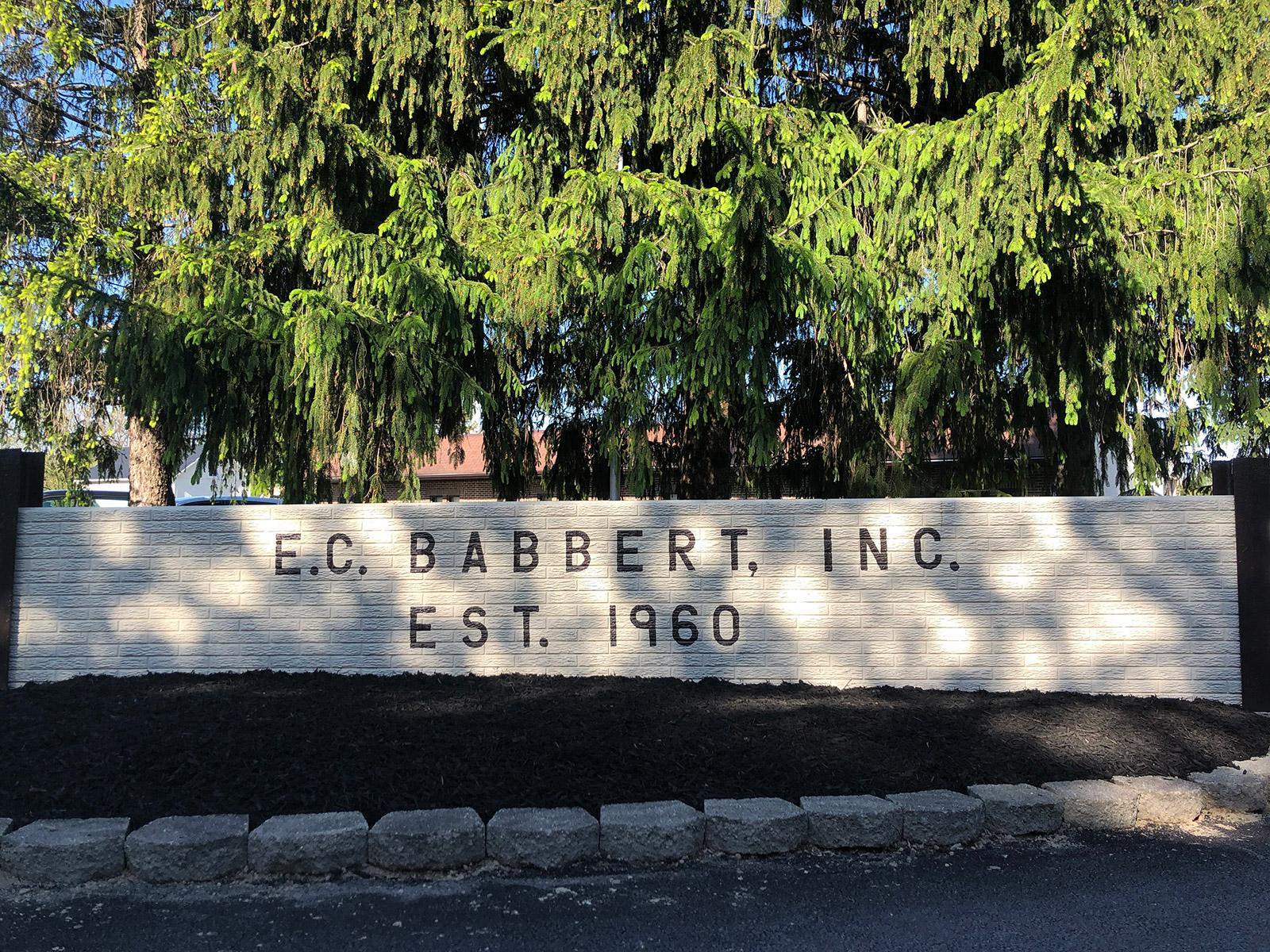 EC Babbert Sign