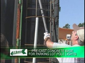 light pole base 1