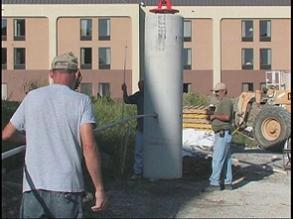 light pole base a
